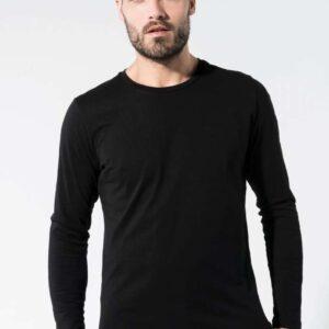 Kariban MEN'S ORGANIC COTTON CREW NECK LONG-SLEEVED T-SHIRT Pólók/T-Shirt