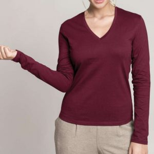 Kariban LADIES' LONG SLEEVE V-NECK T-SHIRT Pólók/T-Shirt