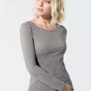 Kariban LADIES' ORGANIC COTTON CREW NECK LONG-SLEEVED T-SHIRT Pólók/T-Shirt