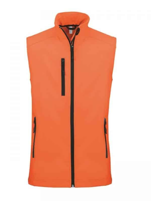 Fluorescent Orange Kariban MEN'S SOFTSHELL BODYWARMER Polár & Softshell