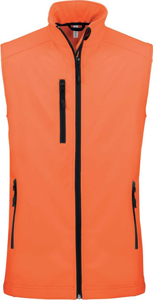 Fluorescent Orange Kariban LADIES' SOFTSHELL BODYWARMER Polár & Softshell