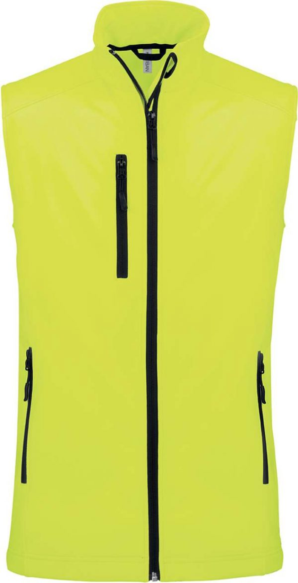 Fluorescent Yellow Kariban LADIES' SOFTSHELL BODYWARMER Polár & Softshell