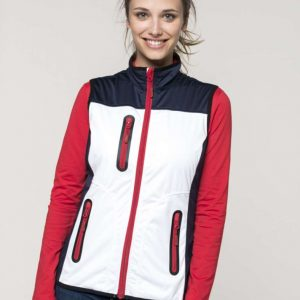 Kariban LADIES' TRI-COLOUR SOFTSHELL BODYWARMER Polár & Softshell