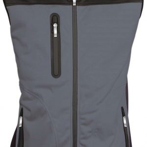 Titanium/Black Kariban LADIES' TRI-COLOUR SOFTSHELL BODYWARMER Polár & Softshell