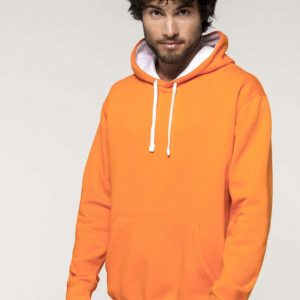 Kariban MEN'S CONTRAST HOODED SWEATSHIRT Pulóverek