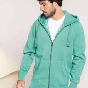 Kariban MEN'S MELANGE FULL ZIP HOODED SWEATSHIRT Pulóverek