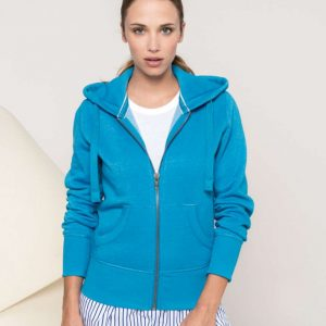 Kariban LADIES' MELANGE FULL ZIP HOODED SWEATSHIRT Pulóverek
