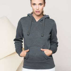 Kariban LADIES' MELANGE HOODED SWEATSHIRT Pulóverek