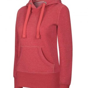Dark Red Heather Kariban LADIES' MELANGE HOODED SWEATSHIRT Pulóverek