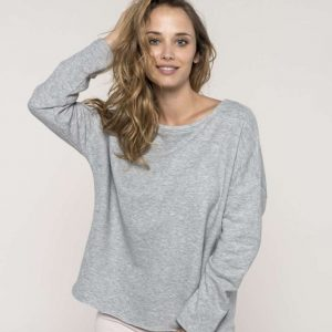 Kariban LADIES' OVERSIZED SWEATSHIRT Pulóverek
