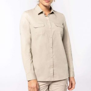 Kariban LADIES' LONG-SLEEVED SAFARI SHIRT Formaruhák