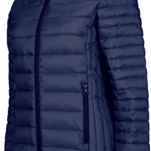 Navy Kariban LADIES' LIGHTWEIGHT HOODED PADDED JACKET Kabátok
