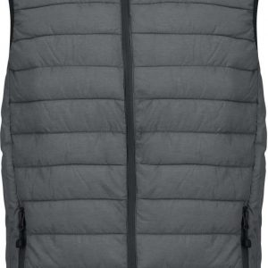 Marl Dark Grey Kariban MEN'S LIGHTWEIGHT SLEEVELESS JACKET Mellények