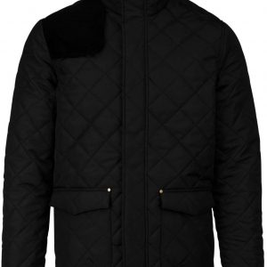 Black/Black Kariban MEN'S QUILTED JACKET Kabátok