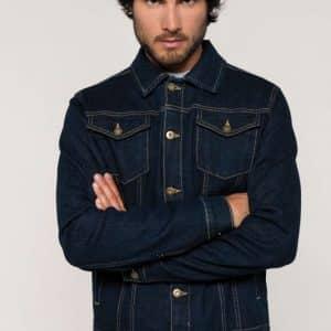 Kariban MEN'S UNLINED DENIM JACKET Kabátok