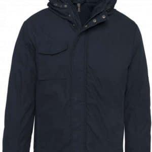 Navy Kariban HOODED PARKA Kabátok