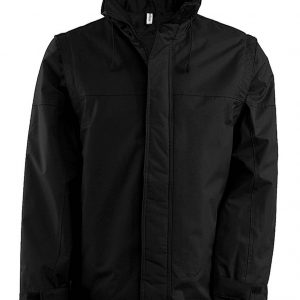 Black Kariban FACTORY - DETACHABLE SLEEVE BLOUSON JACKET Kabátok