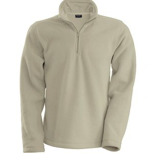 Beige Kariban ENZO - ZIP NECK MICROFLEECE JACKET Polár & Softshell