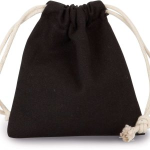 Black Kimood COTTON BAG WITH DRAWCORD CLOSURE - SMALL SIZE Táskák és Kiegészítők