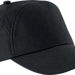 Black K-UP BAHIA - 7 PANEL CAP Sapkák