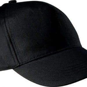 Black K-UP COTTON CAP - 5 PANELS Sapkák