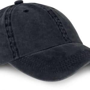 Black Washed K-UP VINTAGE CAP - 6 PANELS Sapkák