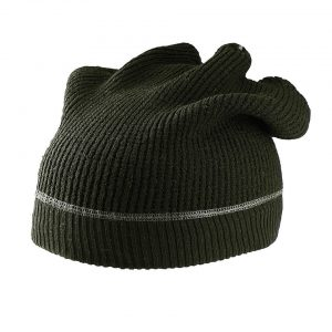 Military Green K-UP KNITTED SLOUCH HAT Sapkák