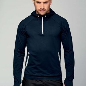 Proact ZIP NECK HOODED SPORTS SWEATSHIRT Sport
