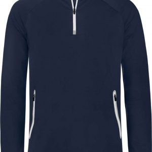Navy Proact ZIP NECK HOODED SPORTS SWEATSHIRT Sport