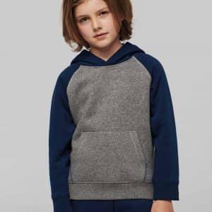 Proact KIDS' TWO-TONE HOODED SWEATSHIRT Gyermek ruházat