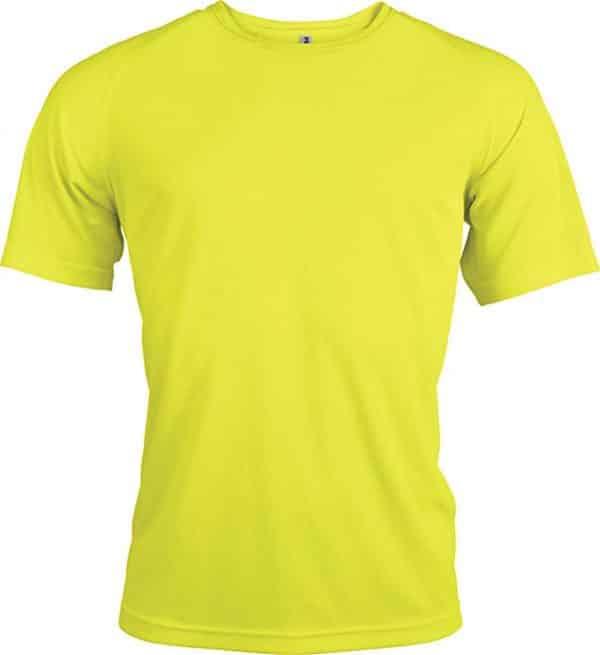 Fluorescent Yellow Proact MEN'S SHORT SLEEVE SPORTS T-SHIRT Sport