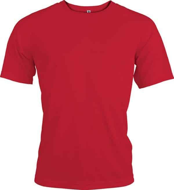 Red Proact MEN'S SHORT SLEEVE SPORTS T-SHIRT Sport
