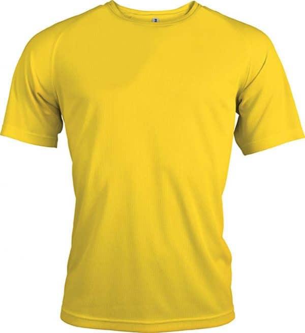 True Yellow Proact MEN'S SHORT SLEEVE SPORTS T-SHIRT Sport