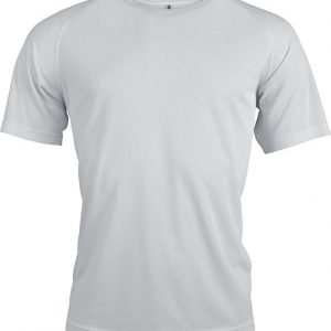 White Proact MEN'S SHORT SLEEVE SPORTS T-SHIRT Sport