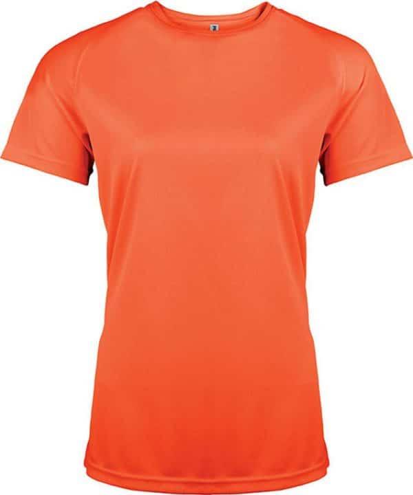 Fluorescent Orange Proact LADIES' SHORT SLEEVE SPORTS T-SHIRT Sport