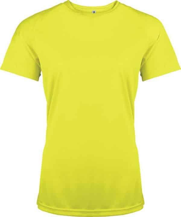 Fluorescent Yellow Proact LADIES' SHORT SLEEVE SPORTS T-SHIRT Sport