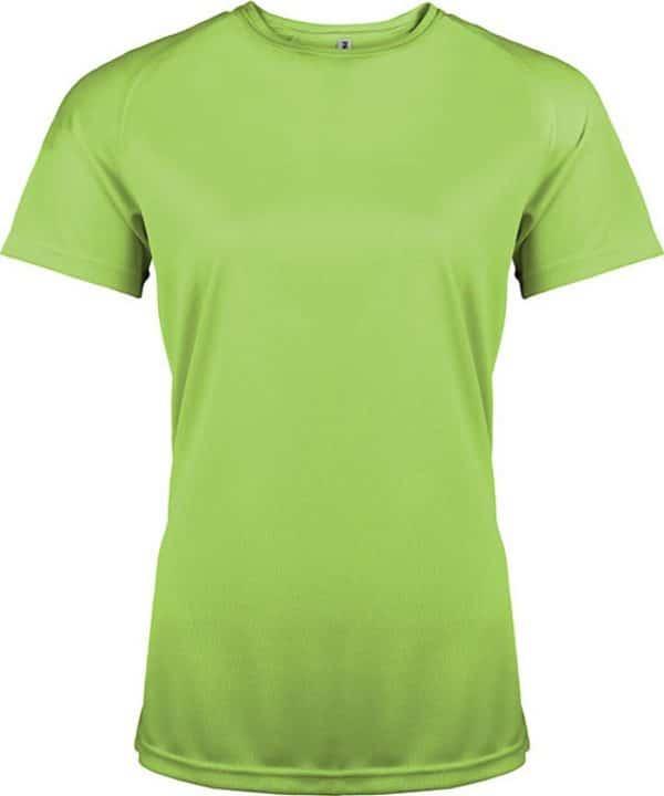 Lime Proact LADIES' SHORT SLEEVE SPORTS T-SHIRT Sport