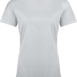 White Proact LADIES' SHORT SLEEVE SPORTS T-SHIRT Sport