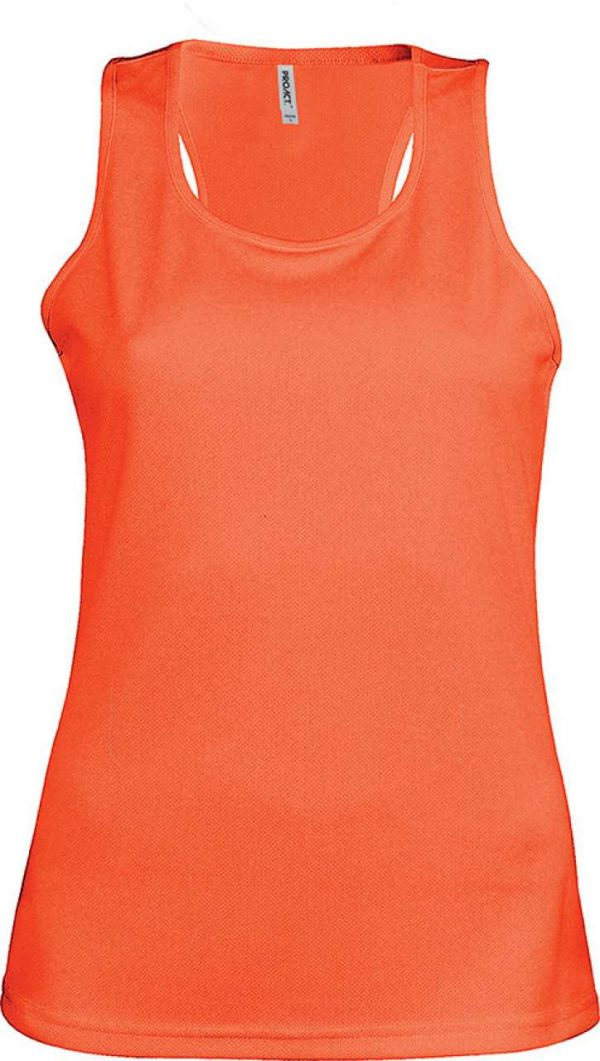 Fluorescent Orange Proact LADIES' SPORTS VEST Sport