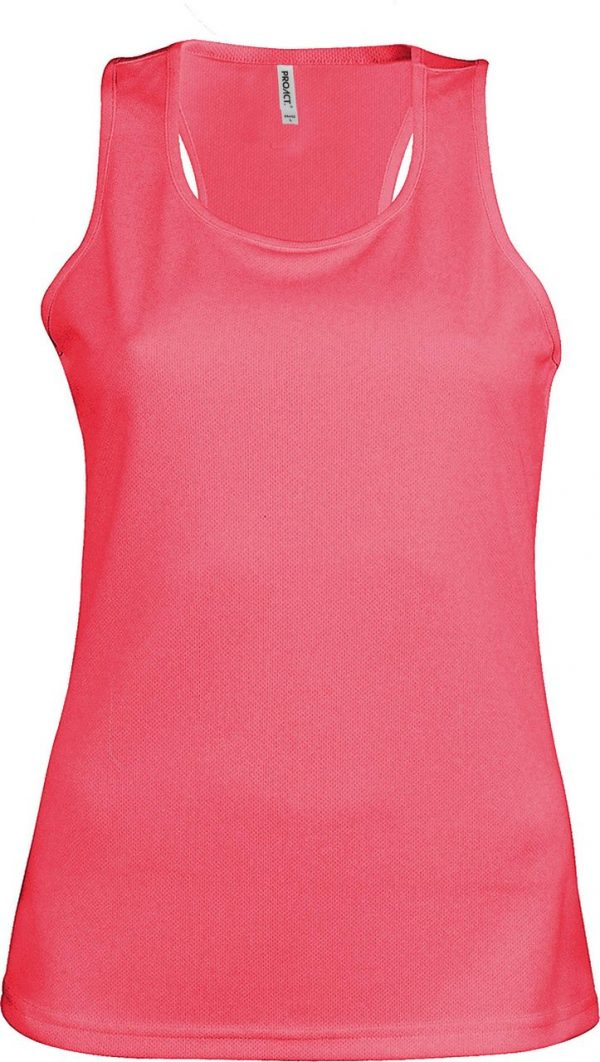Fluorescent Pink Proact LADIES' SPORTS VEST Sport