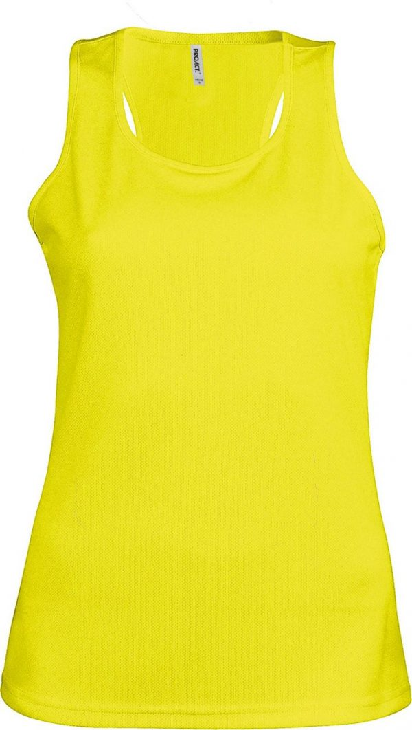 Fluorescent Yellow Proact LADIES' SPORTS VEST Sport