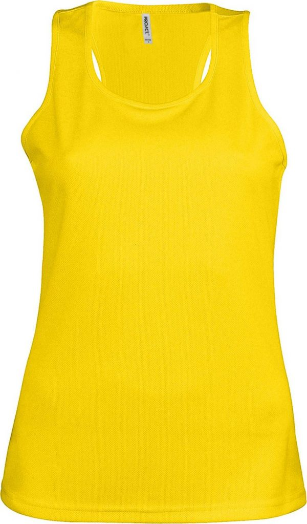 True Yellow Proact LADIES' SPORTS VEST Sport
