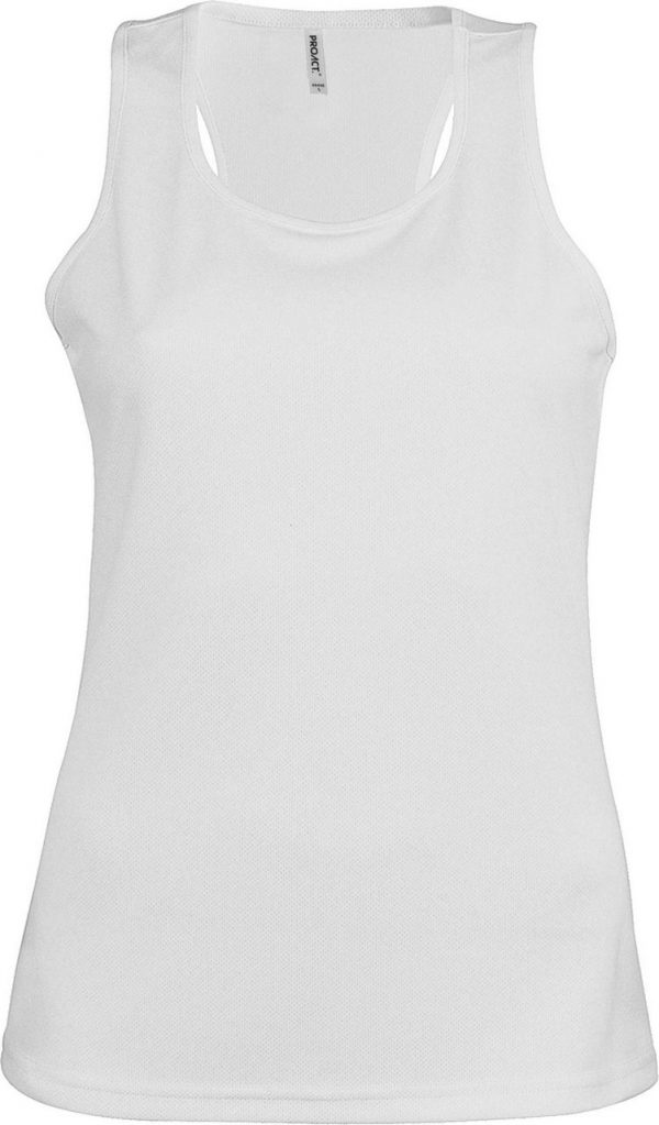 White Proact LADIES' SPORTS VEST Sport