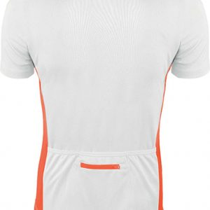 White/Orange Proact MEN'S SHORT SLEEVE BIKEWEAR TOP Sport