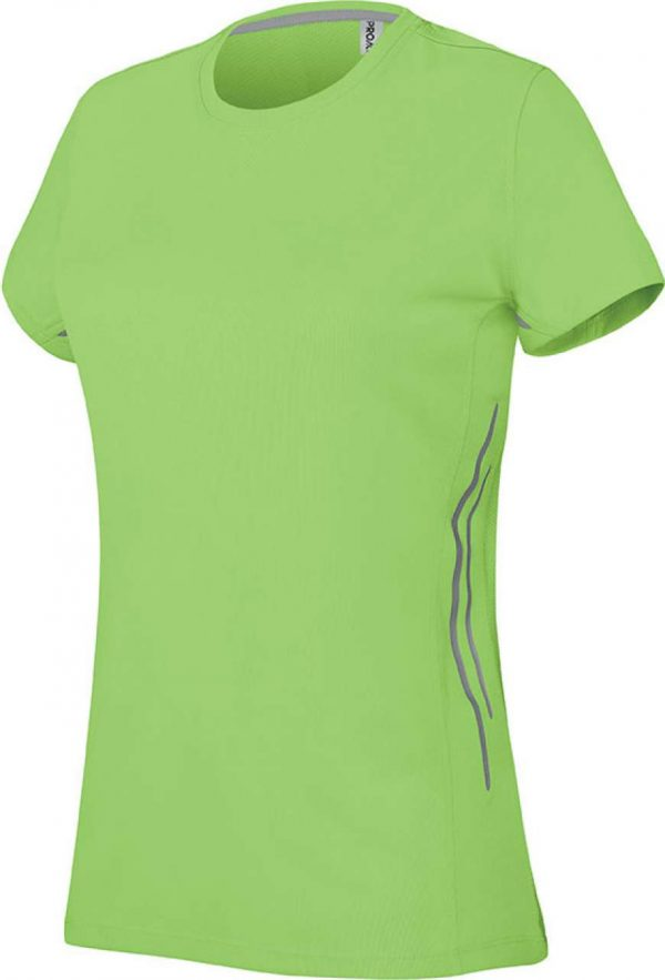 Lime/Silver Proact LADIES' SHORT SLEEVE SPORTS T-SHIRT Sport