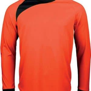 Fluorescent Orange/Black Proact KIDS' LONG SLEEVE GOALKEEPER TOP Gyermek ruházat