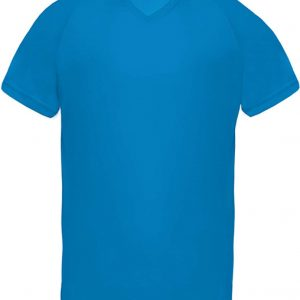 Aqua Blue Proact MEN'S V-NECK SHORT SLEEVE SPORTS T-SHIRT Sport