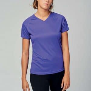 Proact LADIES' V-NECK SHORT SLEEVE SPORTS T-SHIRT Sport