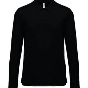 Black Proact ADULT COOL PLUS® LONG SLEEVE POLO SHIRT Sport