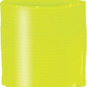 Fluorescent Yellow Proact ELASTIC ARMBAND WITH LABEL HOLDER Sport
